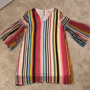 Striped dress bell sleeves